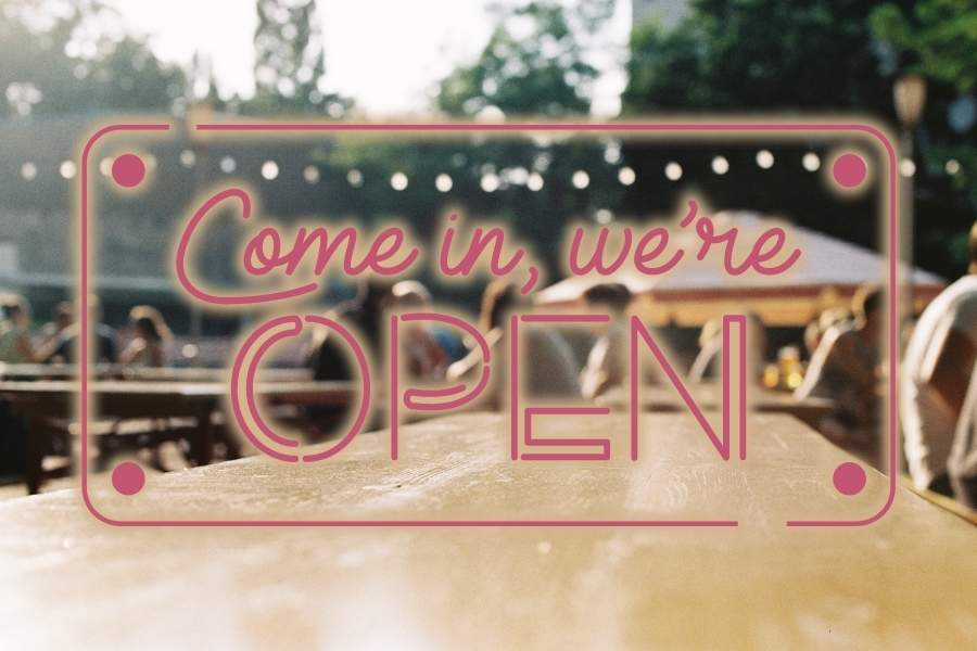 Biergarten öffnung geöffnet