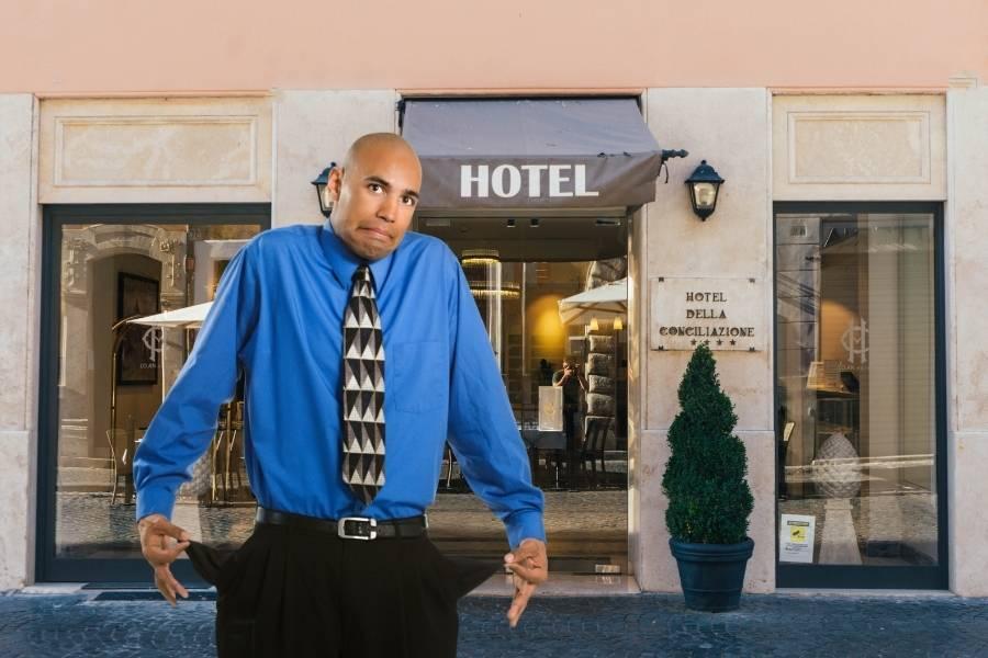 Hotel leere Taschen