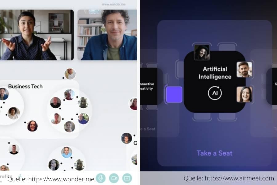 Online Digital Kontakt halten Wonder Airmeet