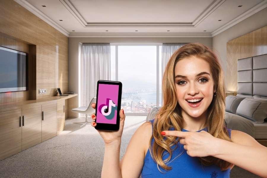 Tik Tok Hotel Hotelzimmer Smartphone